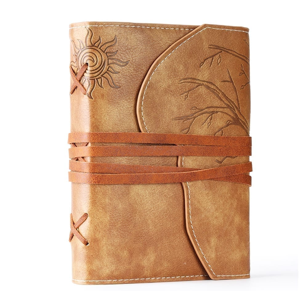 Light of Africa Vegan Leather Journal | Embossed Refillable Notebook